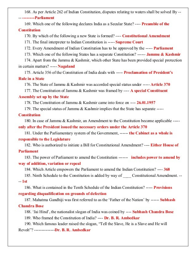 Indian Constitution Slogans of Indian Constitution