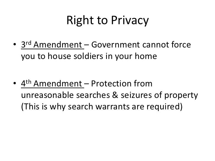 constitutional right to privacy and the Things that are not in the us or that's my constitutional right it is said that a right to privacy is inherent in many of the amendments in.