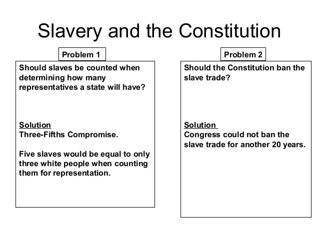 was slavery necessary in the constitution Texas constitutional history the constitution also recognized slavery, provided for male suffrage, contained a bill of rights, and excluded citizenship to african americans and native americans a new constitution was necessary.