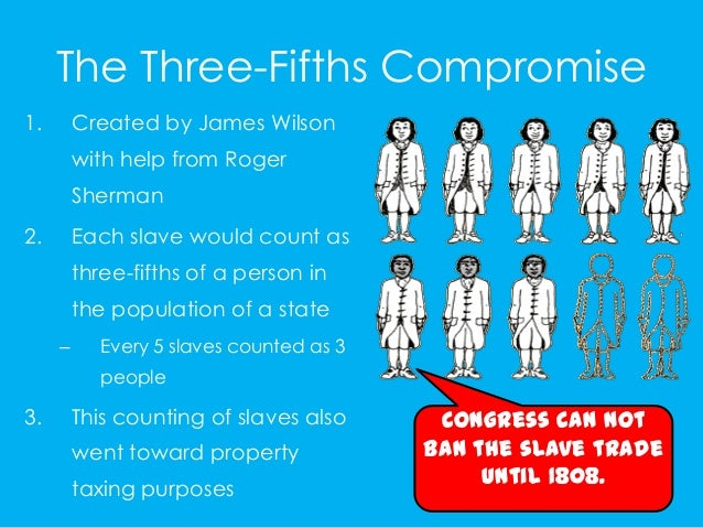 three fifths compromises essay 3 major compromises   3 compromises at the constitutional convention 1 3  three-fifths compromise three-fifths of the slaves would count as.