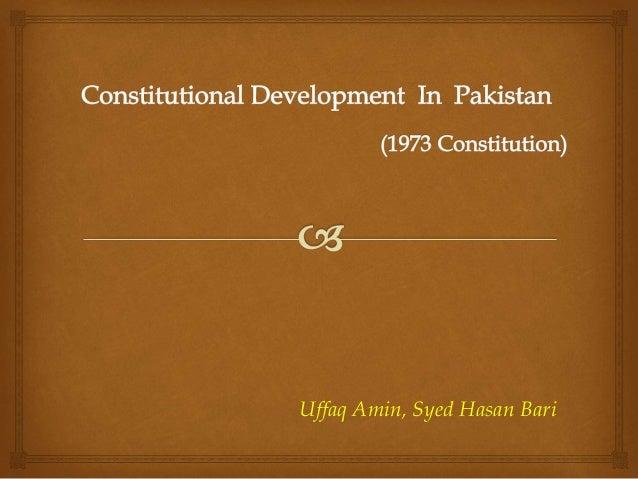 Constitutional development in pakistan  1973