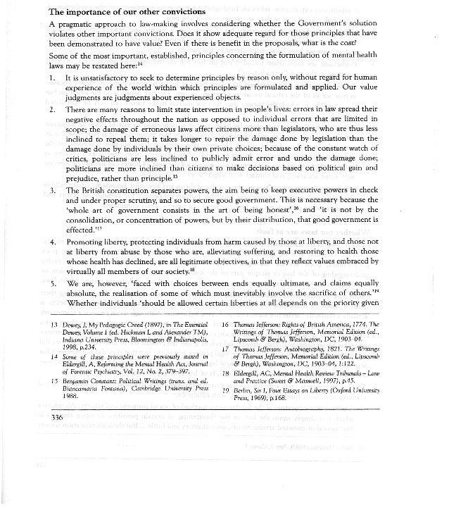 Constitutional principles of mental health legislation eldergill