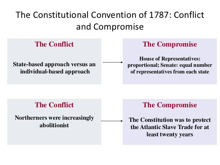 compromise and conflict The compromise of 1850 was a package of five separate bills passed by the united states congress in september 1850,  reduced sectional conflict.