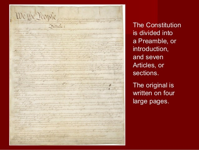 an introduction to the american constitution Lesson 2: introduction to the us constitution the us constitution states basic principles which guide our country's government and laws when it was written in 1787, it was the plan which told the beginning country how to form its government.