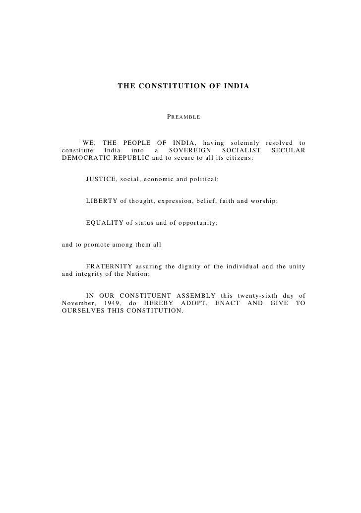 1                               THE CONSTITUTION OF INDIA                       THE CONSTITUTION OF INDIA                 ...
