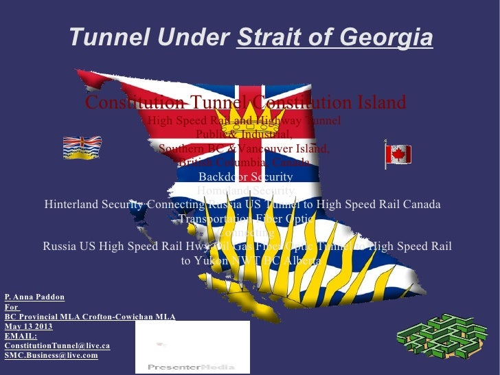 Tunnel Under Strait of Georgia                 Constitution Tunnel Constitution Island                            High Spe...