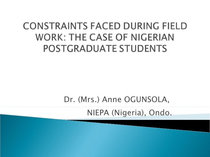 Dr. (Mrs.) Anne OGUNSOLA,  NIEPA (Nigeria), Ondo.