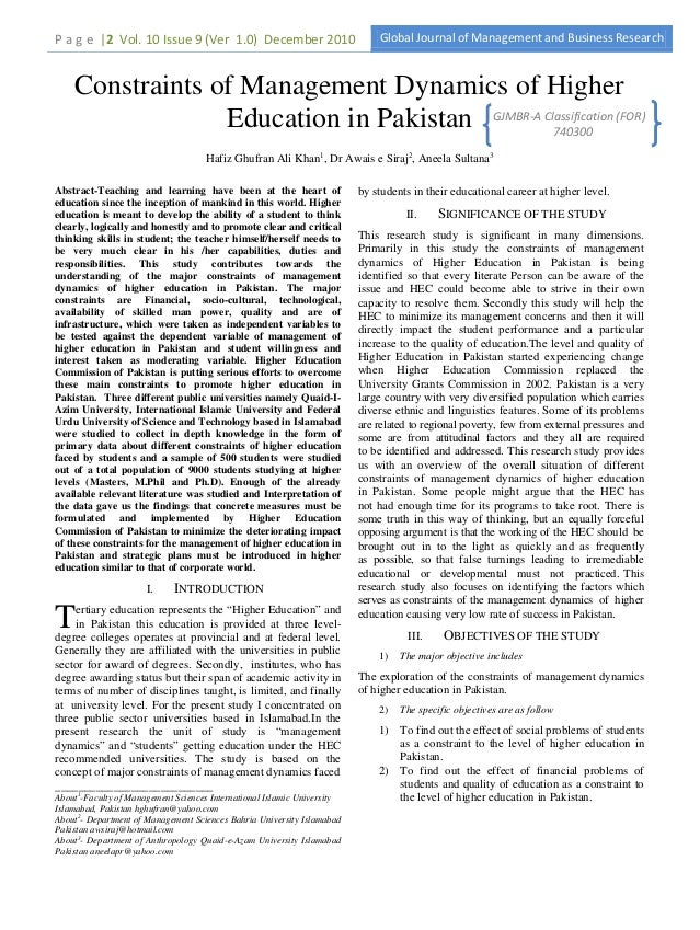 P a g e |2 Vol. 10 Issue 9 (Ver 1.0) December 2010                           Global Journal of Management and Business Res...