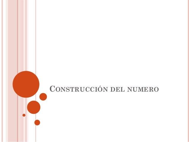 Construcción del numero