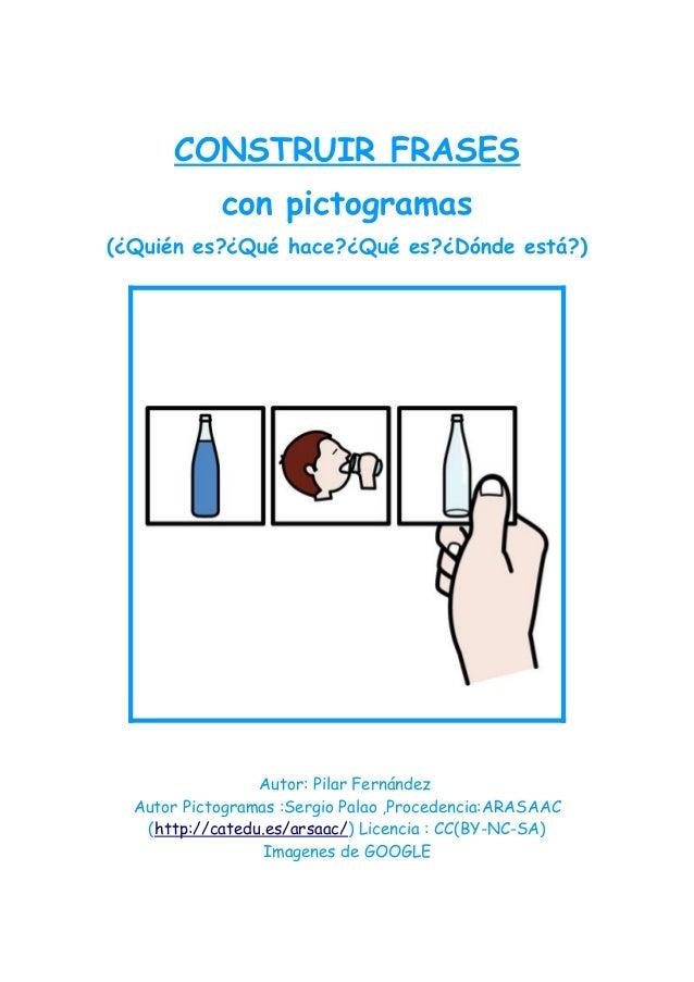 Construcción frases con pictogramas