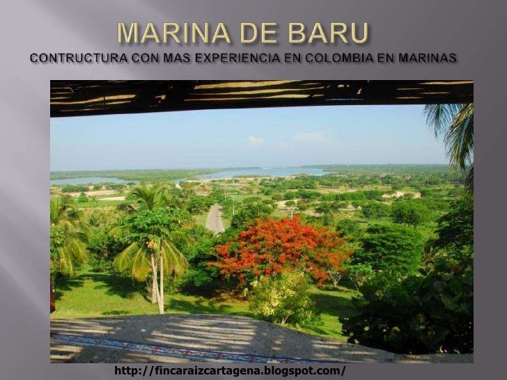 MARINA DE BARUCONTRUCTURA CON MAS EXPERIENCIA EN COLOMBIA EN MARINAS<br />http://fincaraizcartagena.blogspot.com/<br />