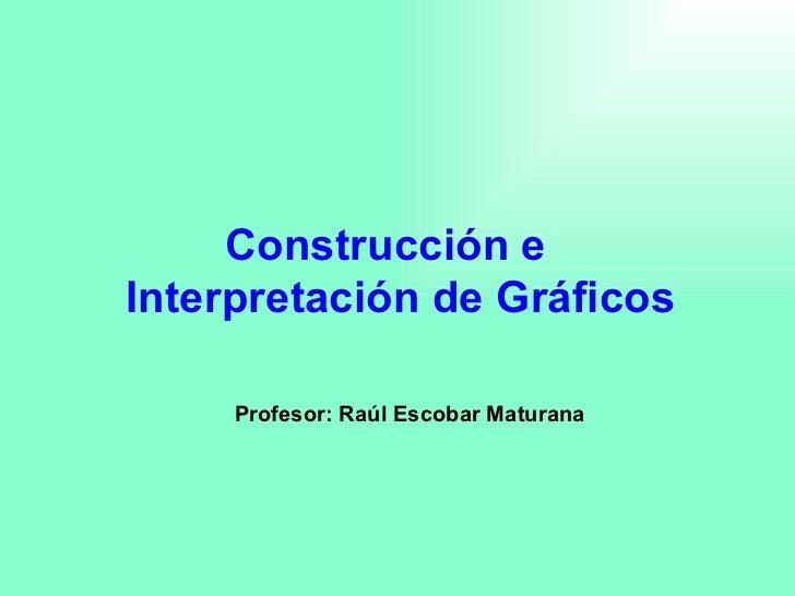 Construcción e Interpretación de Gráficos Profesor: Raúl Escobar Maturana