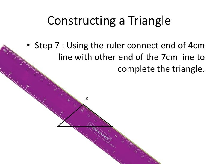 how to draw a triangle using a protractor