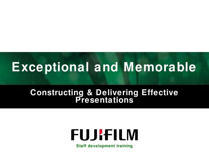 Constructing & Delivering Effective Presentations Oct 08