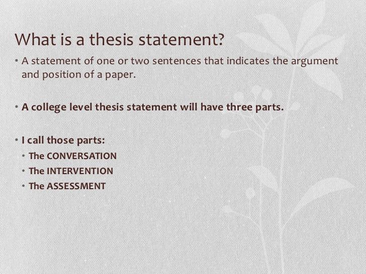 thesis statement help claim 3749