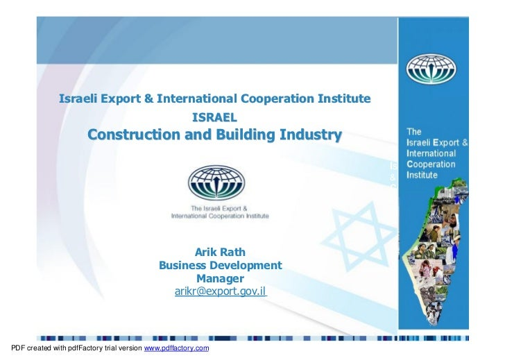 ISRAEL Construction and Building Industry