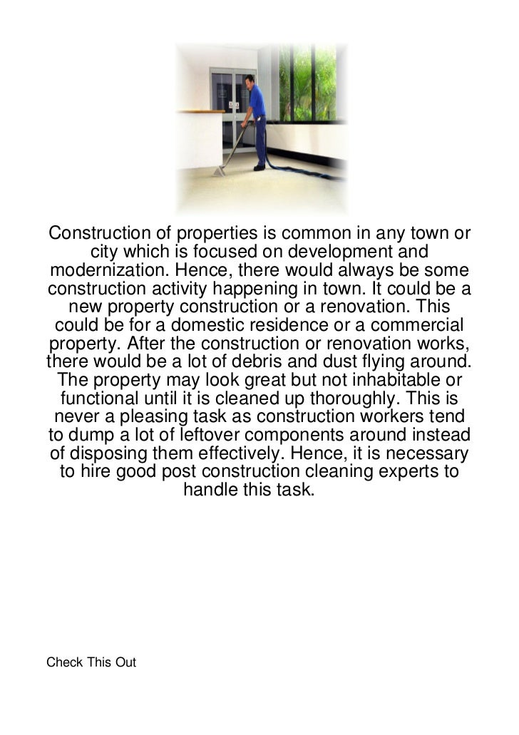 Construction of properties is common in any town or       city which is focused on development and modernization. Hence, t...