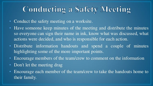 safety instructions for workers