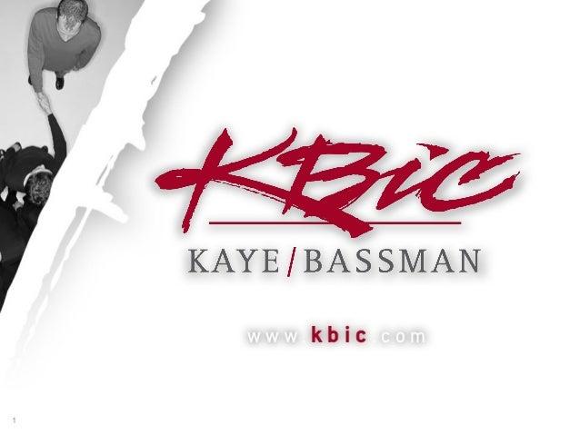 1   01/22/08   1   Kaye/Bassman Confidential