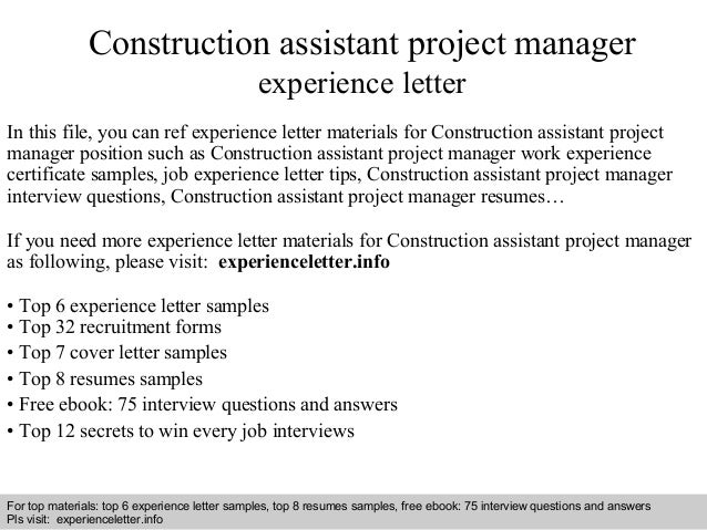 Interview Questions And Answers Free Download Pdf Ppt File Construction Assistant Project Manager