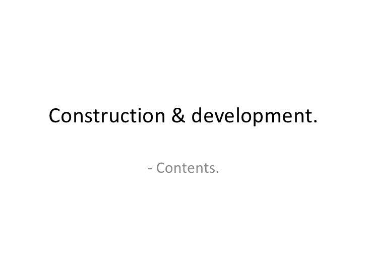 Construction & development contents