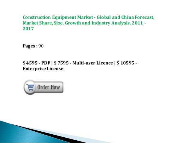 Chinese Construction Equipment Construction Equipment Market