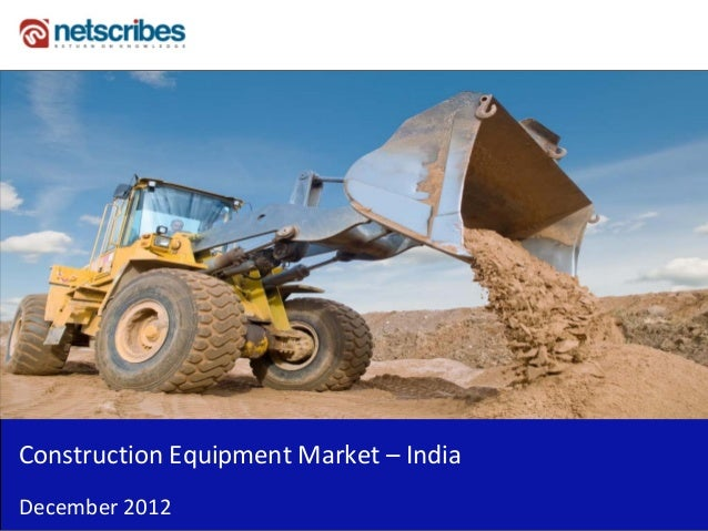 Insert Cover Image using Slide Master View                               Do not distortConstruction Equipment Market – Ind...