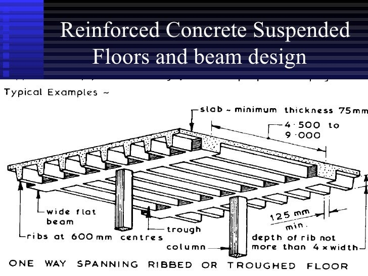 Construction insitu rc suspended floors using bm bending for Suspended concrete floor