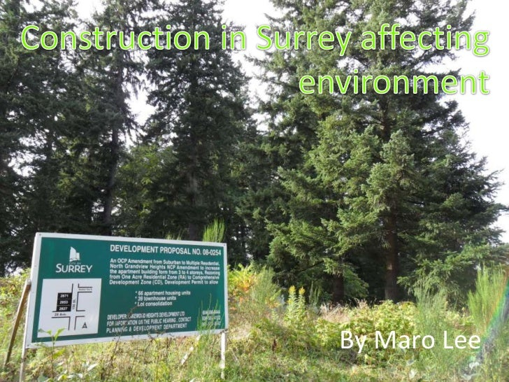 Construction in Surrey affecting environment