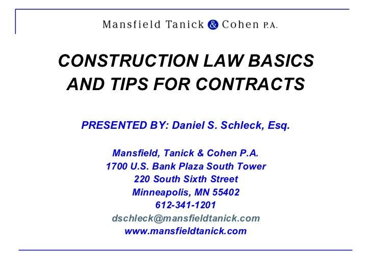 Construction law basics 1103041