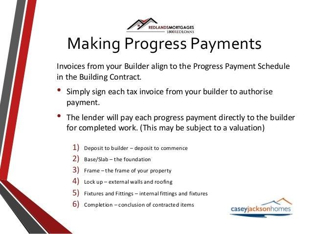 Construction home loans for Construction disbursement schedule