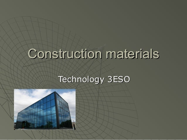 Construction materials Technology 3ESO
