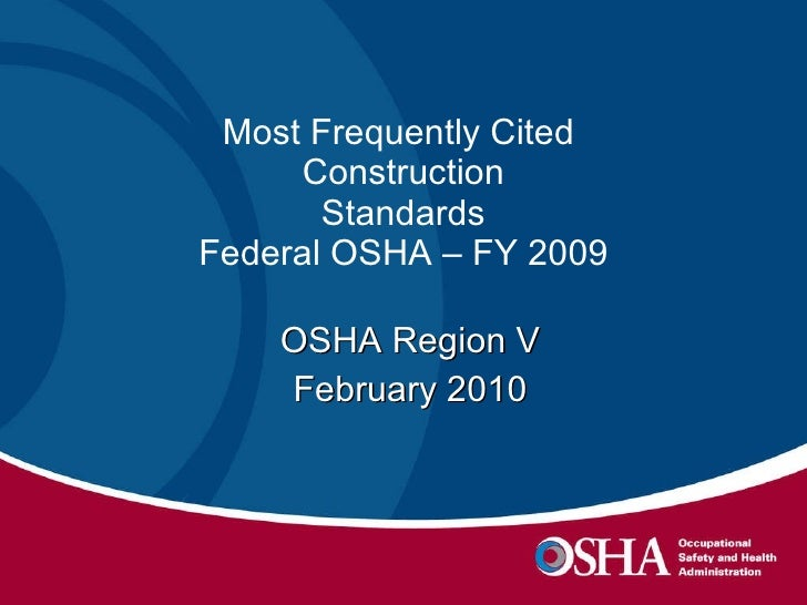 Construction Most Freq Cited Fy09 National