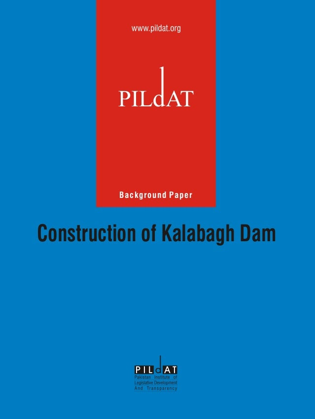 Construction of kalabagh dam background paper