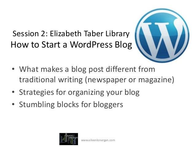 Starting a WordPress.com Blog