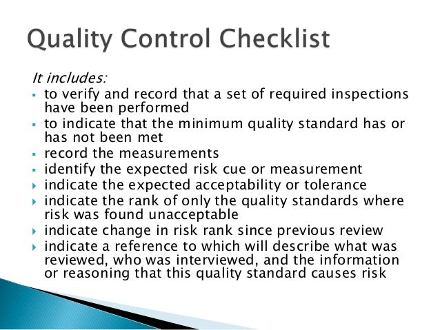 quality risk management in construction About lender's quality assurance as a full service construction administration & risk management firm, lender's quality assurance (lqa) offers a comprehensive range of products and services that can help you identify, assess, and respond to potential new and existing property condition liabilities -- before they become a problem.