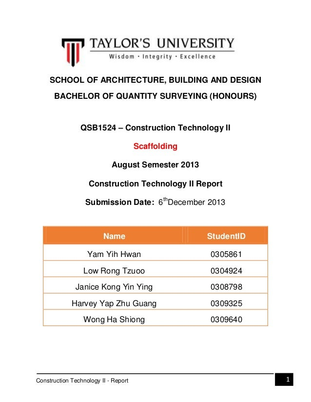 Construction technology ii   report