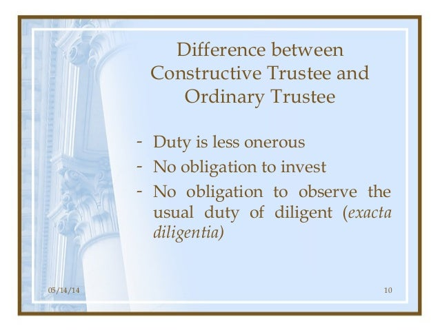 remedial and institutional constructive trusts Institutional and remedial dichotomy is only one way to understand 'remedialism' within constructive trusts some institutional constructive trusts.