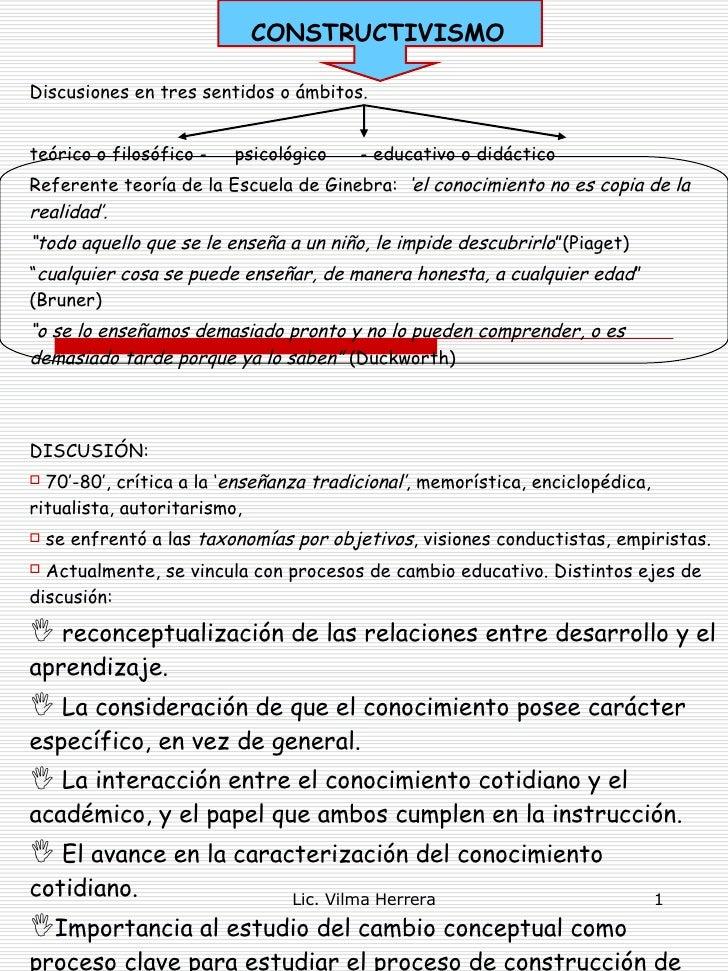 CONSTRUCTIVISMO <ul><li>Discusiones en tres sentidos o ámbitos. </li></ul><ul><li>teórico o filosófico -  psicológico  - e...