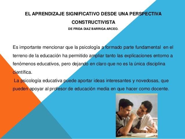 aprendizaje desde una perspectiva Constructivista