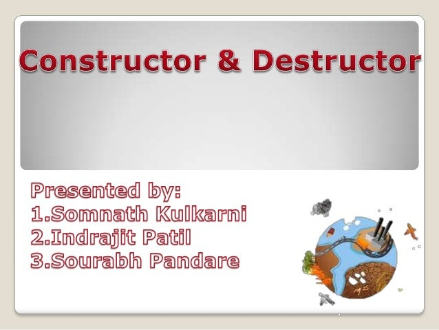 Contents oIntroduction oCharacteristics of Constructor. oTypes of constructor. - Default Constructor - Parameterized Const...