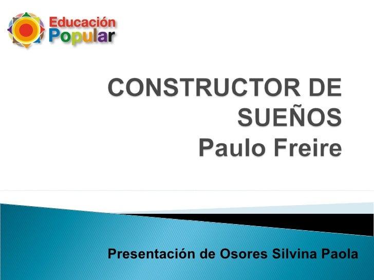 Presentación de Osores Silvina Paola