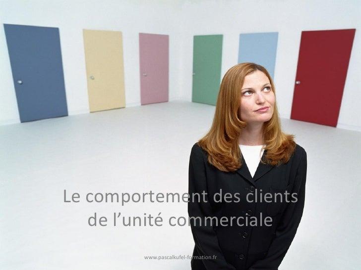 Le comportement des clients   de l'unité commerciale         www.pascalkufel-formation.fr