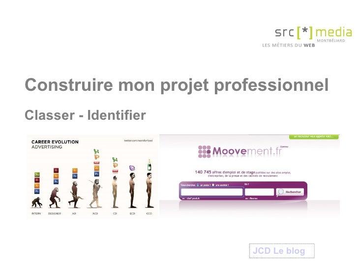 Construire mon projet professionnel Classer - Identifier JCD Le  blog