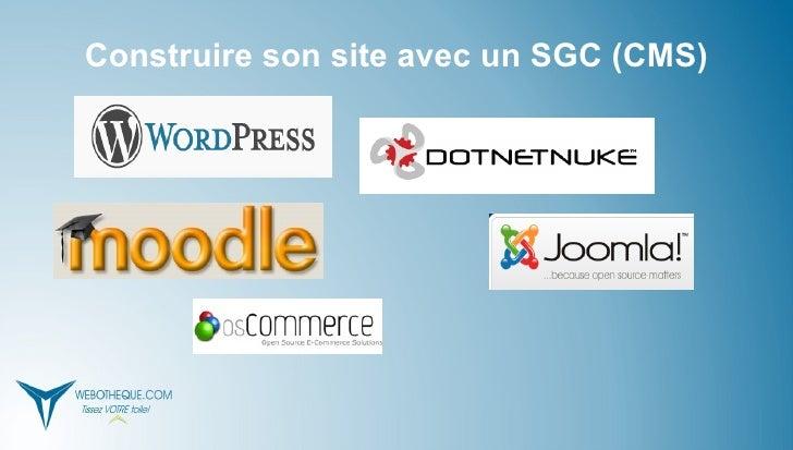 Construire son site avec un SGC (CMS)