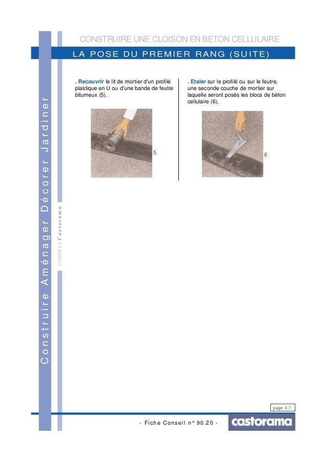 Construire une cloison en beton cellulaire - Construire une cloison ...