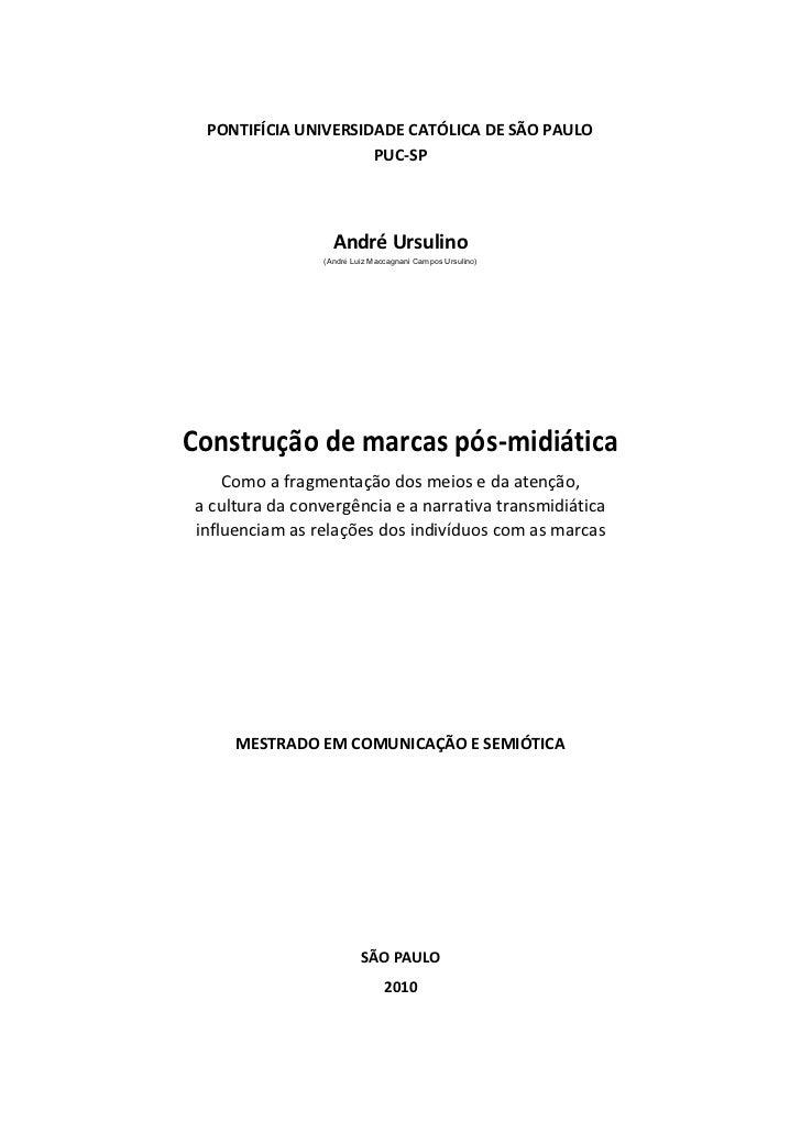 PONTIFÍCIA UNIVERSIDADE CATÓLICA DE SÃO PAULO                      PUC-SP                       André Ursulino            ...