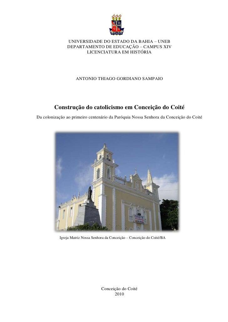 0               UNIVERSIDADE DO ESTADO DA BAHIA – UNEB               DEPARTAMENTO DE EDUCAÇÃO – CAMPUS XIV                ...