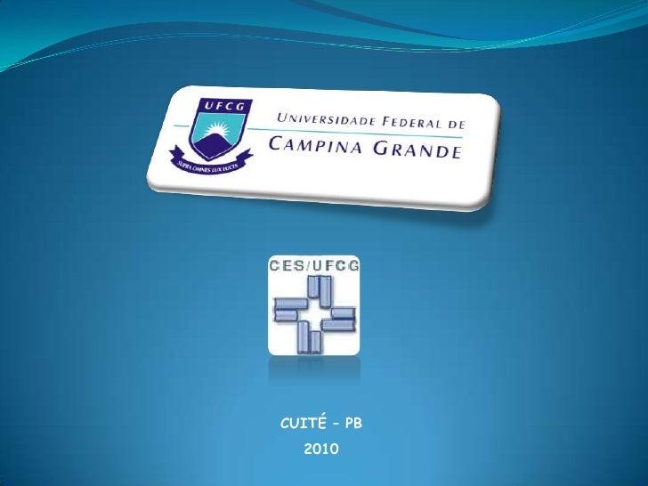 CUITÉ – PB<br />2010<br />