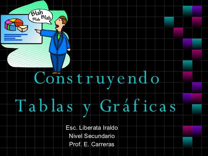 Construyendo Tablas y Gráficas Esc. Liberata Iraldo Nivel Secundario Prof. E. Carreras